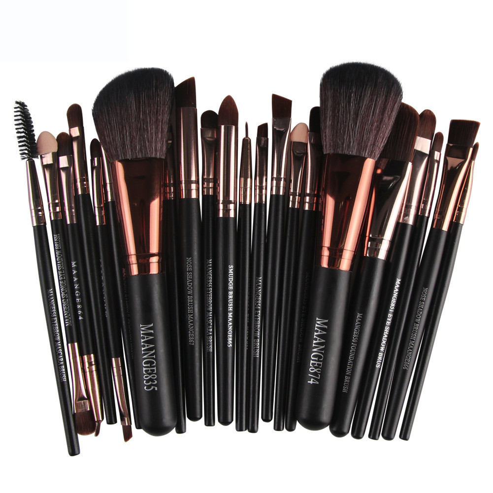 Professional 22pcs/set Makeup Brushes Foundation Powder Eyeshadow Blush Eyebrow Lip Make up Brush Set Kit maquiagem pro 15pcs tz makeup brushes set powder foundation blush eyeshadow eyebrow face brush pincel maquiagem cosmetics kits with bag
