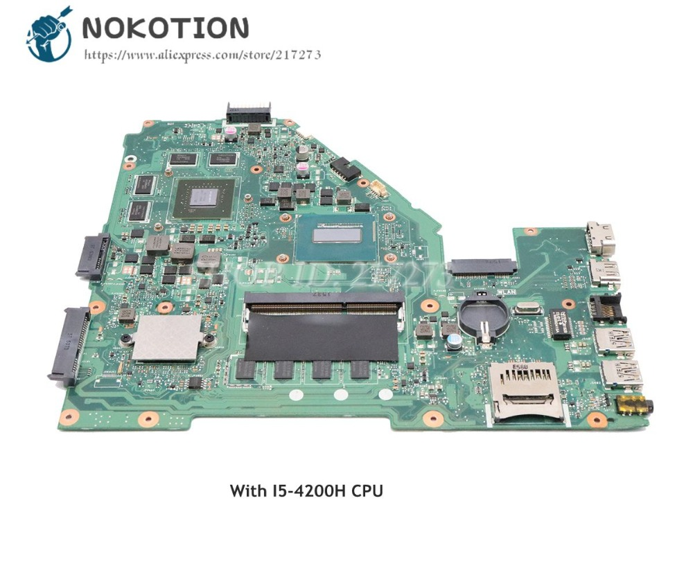 NOKOTION 60NB08X0-MB1700 Motherboard For ASUS X550 X550JX MAIN BOARD REV 2.0 SR15G I5-4200H CPUNOKOTION 60NB08X0-MB1700 Motherboard For ASUS X550 X550JX MAIN BOARD REV 2.0 SR15G I5-4200H CPU