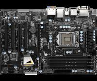 Используется. Asrock Z77 Pro4 рабочего Материнская плата Z77 разъем LGA 1155 i3 i5 i7 DDR3 32 г USB3.0 ATX