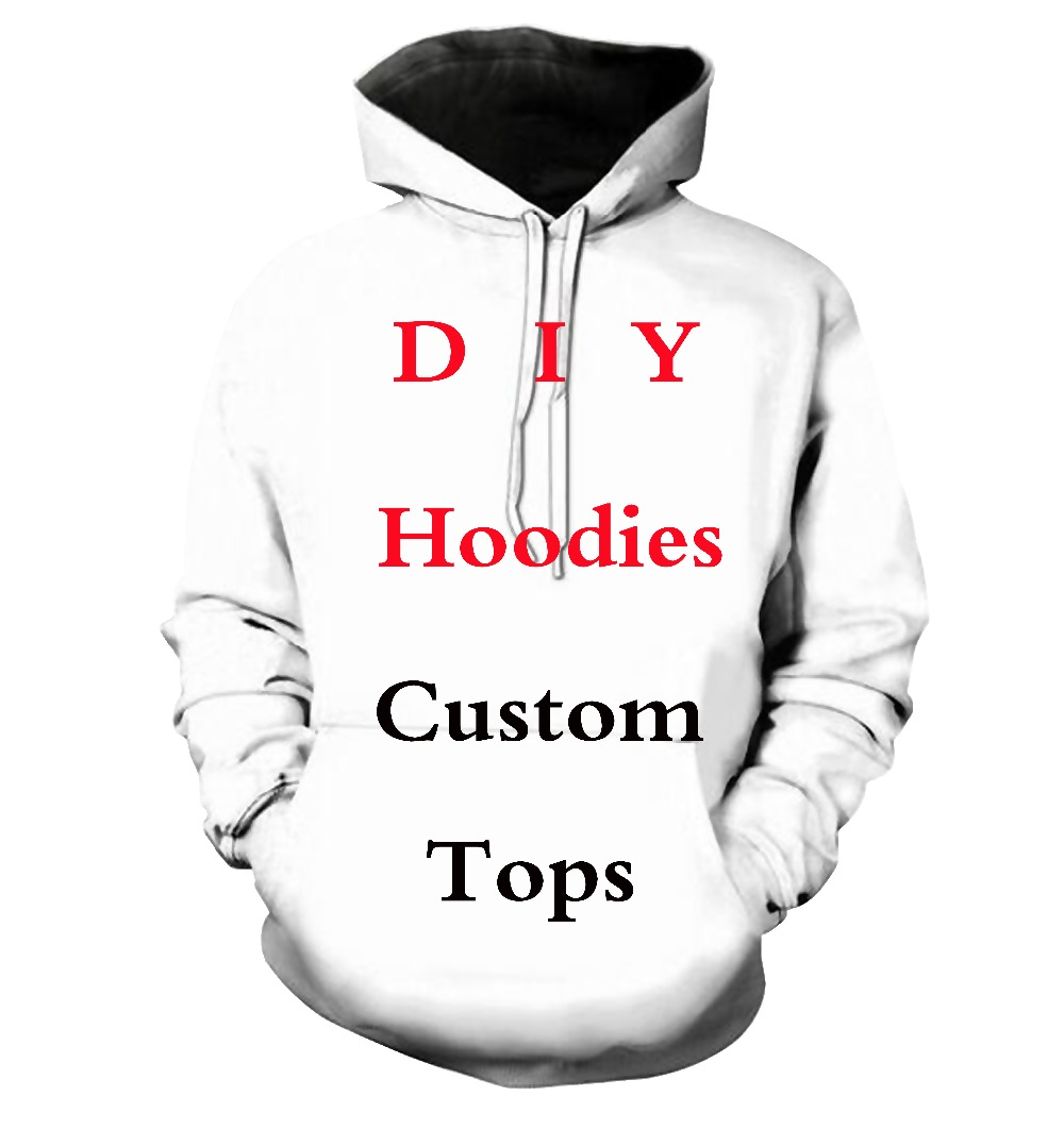 LIASOSO Custom Full Print DIY 3D Print Hoodies Mens/women Polluver Sweatshirt Men Hoodies Customsize Plus Size XS-6XL
