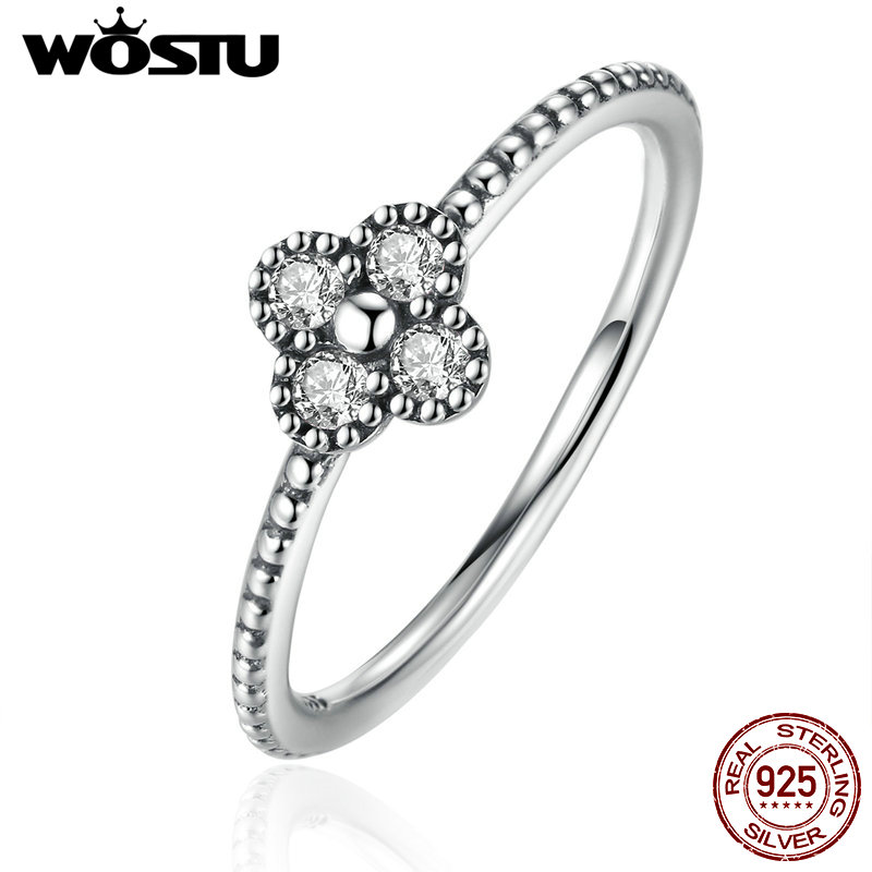 New Arrival 100% 925 Sterling Silver Blossom Finger Rings With Clear CZ For Women Luxury Original Fine Jewelry Gift XCH7196