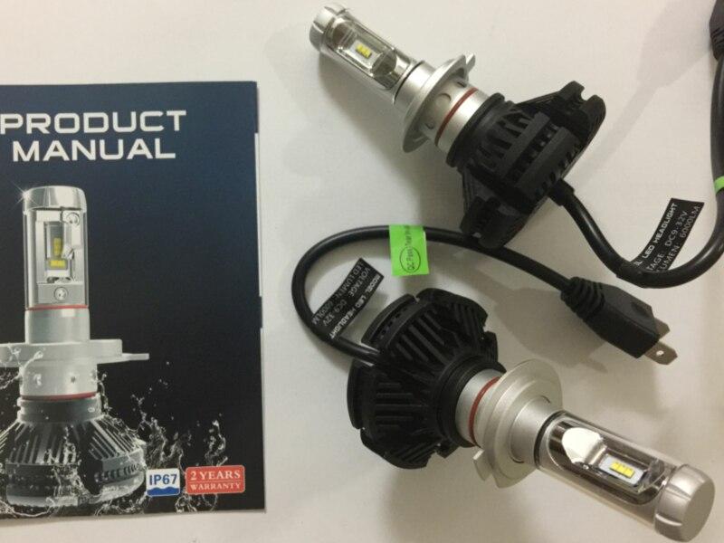 car led headlight bulbs kit X3 use Philip ZES Chip 50W 6000LM 3000k 6500k 8000k auto LED headlamp H4 H7 H11 H1 H3 9005 9006 9012