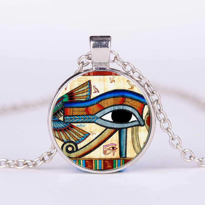 SONGDA древний Бог острый глаз ожерелье третий глаз индийская Мандала ювелирные изделия ретро стекло кабошон фото ручной работы ожерелье с амулетом женщины