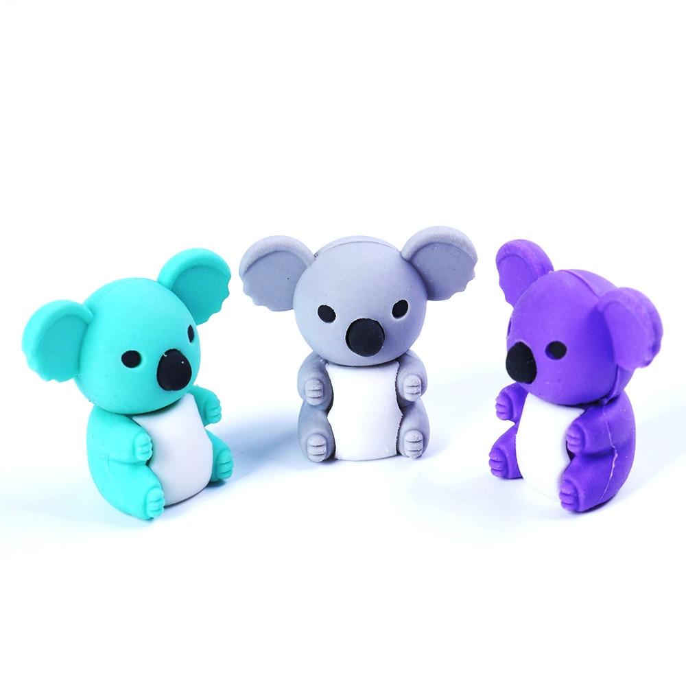 1 Pcs/set Lovely Kawaii Stationery Koala Modelling Eraser For School Office Kids Prize Writting Drawing Student Gift