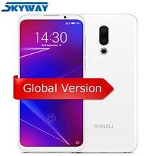 Orijinal Meizu 16 4G LTE 6 GB 64 GB cep telefonu Snapdragon 710 Octa Çekirdek 6.0