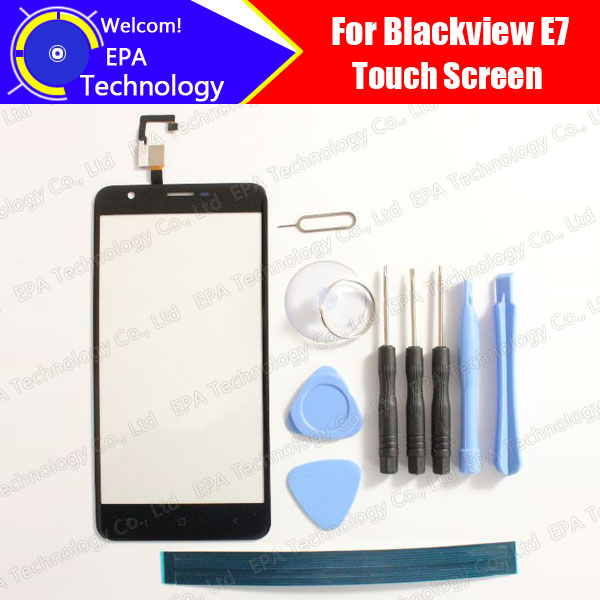 Blackview E7 Digitizer Touch Screen 100% Guarantee Original Glass Panel Touch Screen Digitizer For E7+ tools + Adhesive