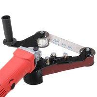 Grinder Pipe and Tube Belt Sander Attachment Stainless Steel Metal Wood Sanding Belt Adapter for 100 Angle Grinder New