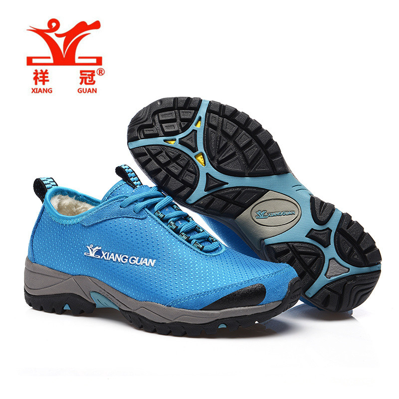 XiangGuan sapatilhas hiking shoes women breathable Waterproof Lining fluff Water repellent font b Oxford b font