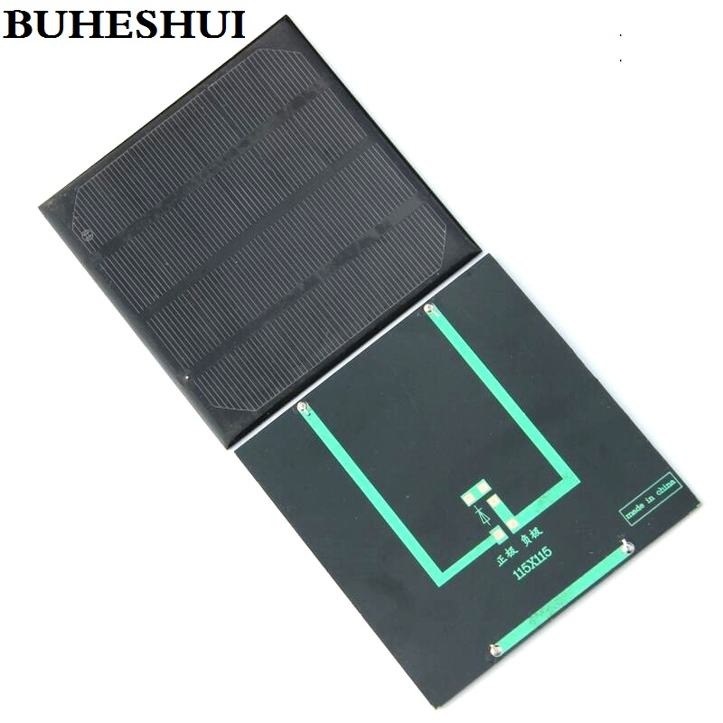 Consumer Electronics Hot Sale Buheshui 2w 6v Solar Cell Monocrystaline Solar Panel Solar Module Diy Solar Charger 115*115*3mm 5pcs/lot Freeshipping Beautiful And Charming Power Source