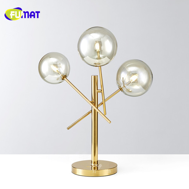 Fumat new modern clear glass table lamps gold stainless steel table fumat new modern clear glass table lamps gold stainless steel table light for living room restaurant aloadofball Image collections