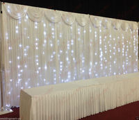 3X6M Fairylight Economy Wedding Backdrop Package for Sale Economy Stands + Backdrop Curtains + Swags + Lights