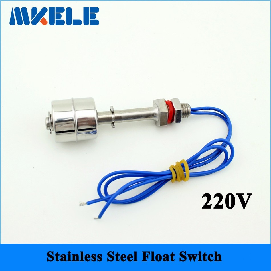 220V Stainless Steel Tank Liquid Water Level Sensor Horizontal Float Switch MK-SFS7510 1 2 built side inlet floating ball valve automatic water level control valve for water tank f water tank water tower