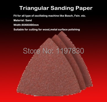 Free Shipping Of 10PCS 80mm 60#/80#/120#/180#/240# Finger Sanding Paper For Polishing Be Used With Most Of Oscillating Tools