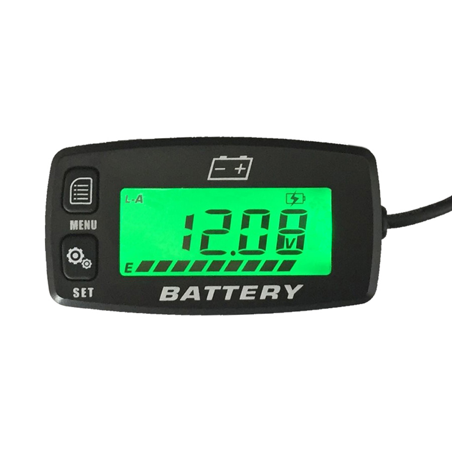 Free shipping BACKLIGHT Lead acid storage battery GEL AGM Voltmeter battery indicator FOR Motorcycle ATV Tractor