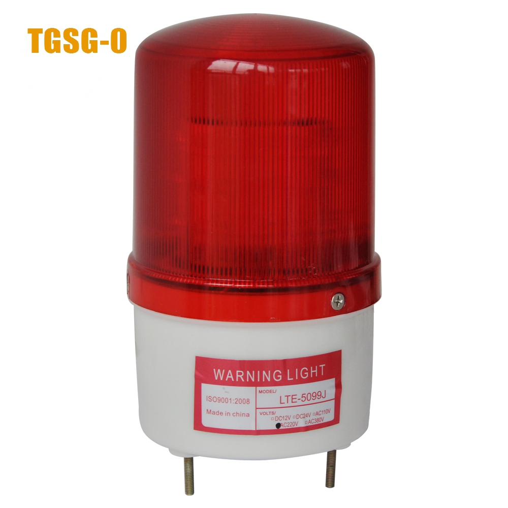 LTE-5099J led warning light with sound 90dB DC12V/24V,AC220V red/yellow/green/blue police light lte 5071j led strobe warning light alarm dc12v 24v ac220v signal emergency lamp with buzzer sound 90db beacon light