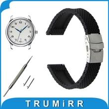 Quick Release Silicone Rubber Watch Band 17 мм 18 мм 19 мм 20 мм 21 мм 22 мм 23 мм для Longines L2 L3 L4 Мастер Флагманский Завоевание Ремень