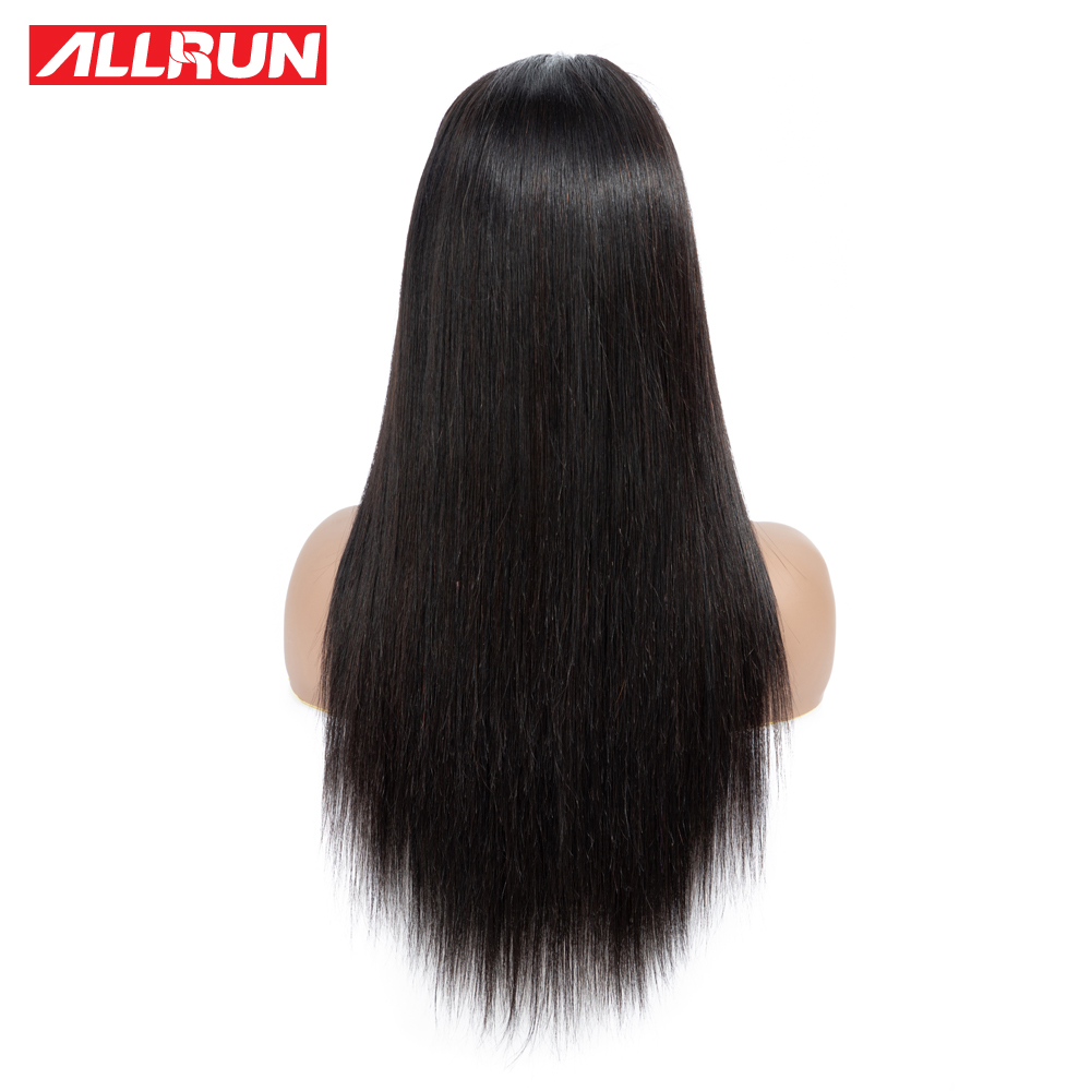 HTB1N0WJPsfpK1RjSZFOq6y6nFXaE Allrun 4*4 Lace Closure Human Hair Wigs For Black Women Short Lace Wigs Malaysia Straight Non-Remy Pre plucked 130% Low Raito