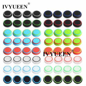 IVYUEEN 500 pcs Analog Thumb Stick Grips for Playstation 4 PS4 Pro Slim Controller Thumbsticks Caps for Nintend Switch Pro Cover