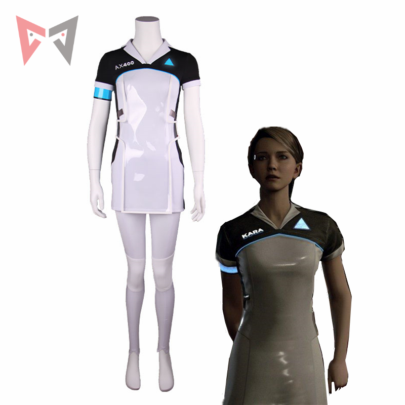 Game Detroit: Become Human KARA cosplay costume Code AX400 Agent Outfit Girls Cute Dress Halloween Carnival Uniforms Top+Pants