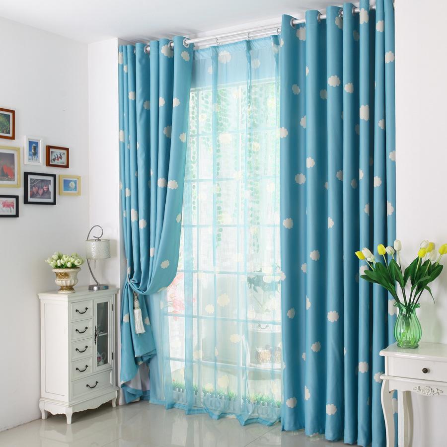 nube moda nios de dibujos animados de color azul y rosa cortina cortina persianas de sombra