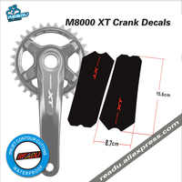 M8000 XT crank sticker Tooth plate stickers crank protection Tooth plate protection stickers Covers to fit M8000XT Cranks decals