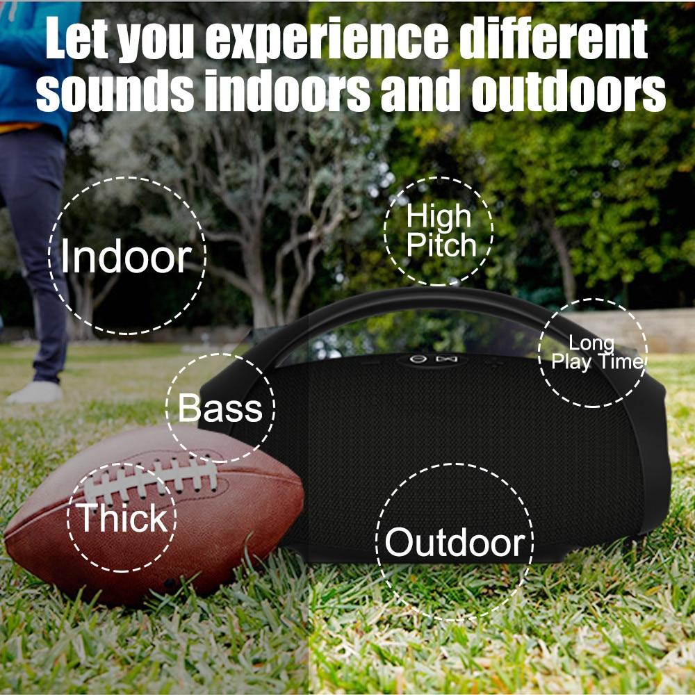 Portable sans fil bluetooth haut-parleur colonne haut-parleur subwoofer caixa de som barre de son mieux que jbl pour smartphone