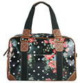 2016 Women Men Flower Oilcloth Large Overnight Weekend Travel Maternity Handbag Tote shoulder  Bag crossbody bags L1106