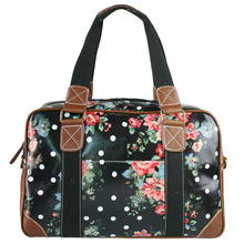 2016 Women Men Flower Oilcloth Large Overnight Weekend Travel Maternity Handbag Tote shoulder  Bag crossbody bags L1106