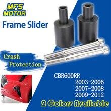 Frame Slider For Honda CBR600RR CBR 600R 600 RR 03-06 07-08 09-12 Falling Crash Pad Protection 2003 2004 2005 2006 2007-2012 cnc crash pad frame slider protection guard for honda cbr600rr cbr 600 rr f5 2007 2008 07 08