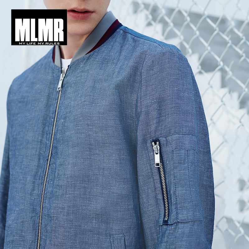 Mlmr Men Spring And Summer New Linen Baseball Jacket Coat M|217321501
