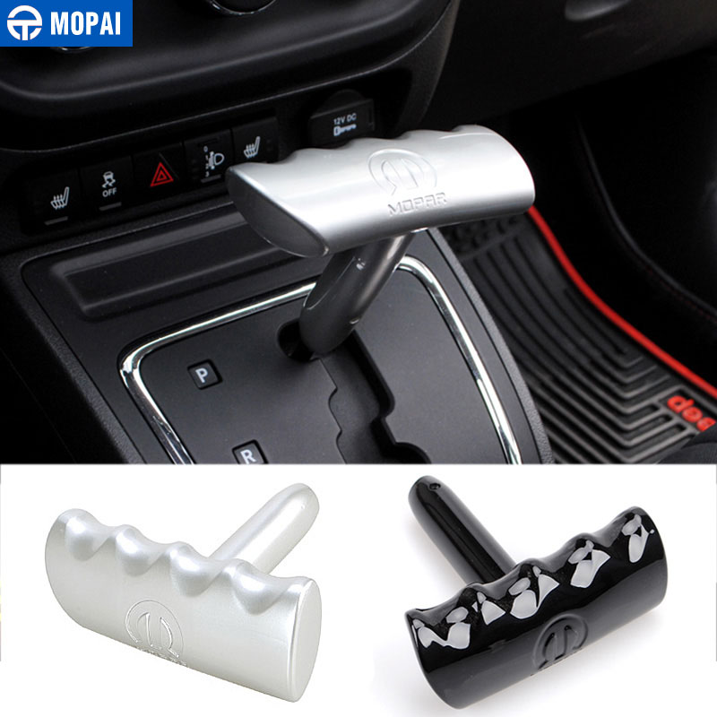 MOPAI ABS Shift T Handle Shifter Knob For Dodge Challenger Durango Ram JCUV For Jeep Compass/Wrangler/Grand Cherokee Liberty