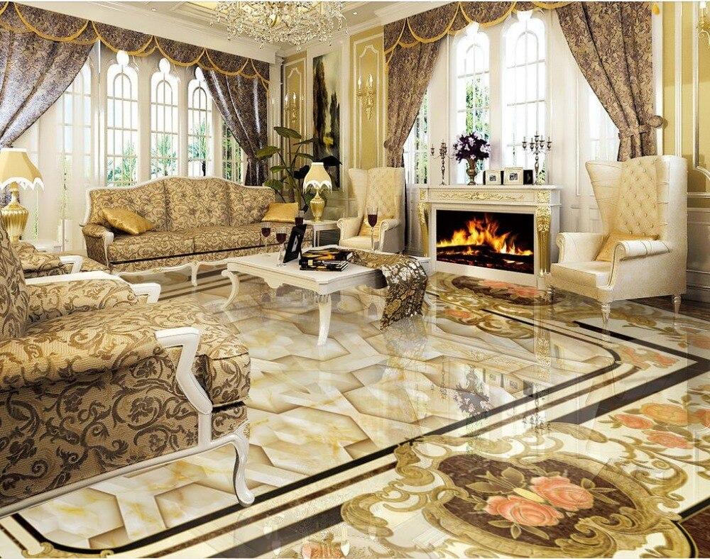 US $22.04 55% di SCONTO 3d personalizzato photo piano cucina bagno murales  pietra bastone parquet pavimento 3d pvc adesivo pavimento murale-in Carte  ...