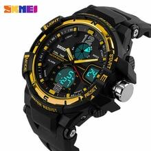 Skmei moda reloj de hombre G estilo impermeable LED relojes deportivos militar hombres del choque de cuarzo analógico Digital reloj relogio masculino
