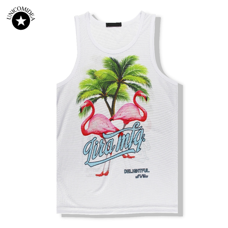 UNICOMIDEA Brand   Tank     Tops   Clothing Casual Vest Men Shirts Palm Summer Fit Men Bodybuilding Undershirt Golds Fitness Man M-2XL