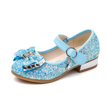 97e7c1e355 Buy party wedding shoes for girl blue and get free shipping on ...
