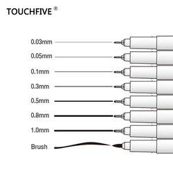 TOUCHFIVE High quality Marker Marvy Sketch Liner Brush Pen Drawing Pen Design Waterproof Manga Pen durable Art supplies