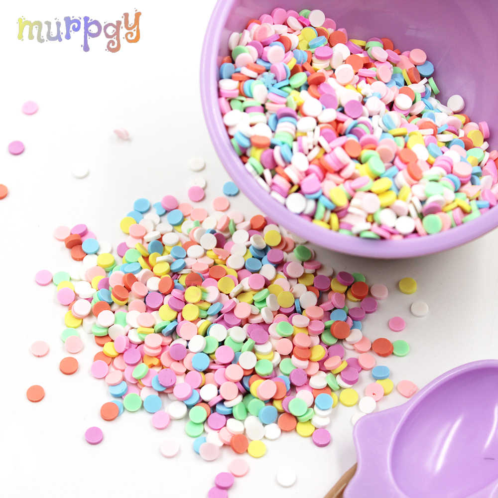 10g Charms Fake Sprinkles Filler for Slime Supplies Bead Addition For Lizun Polymer Clay Fluffy Slime Toy Accessories Decoration