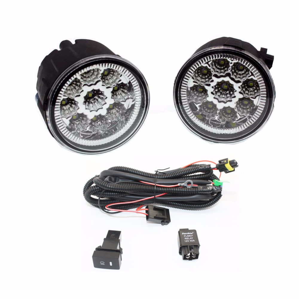 hight resolution of h11 wiring harness sockets wire connector switch 2 fog lights drl front bumper led lamp for nissan note e11 mpv 2006 2015