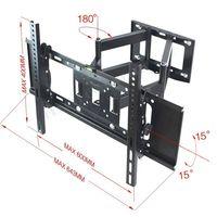 전체 회전 틸트 LCD TVS 벽 마운트 브라켓 삼성 LG TCL 소니 TV 26