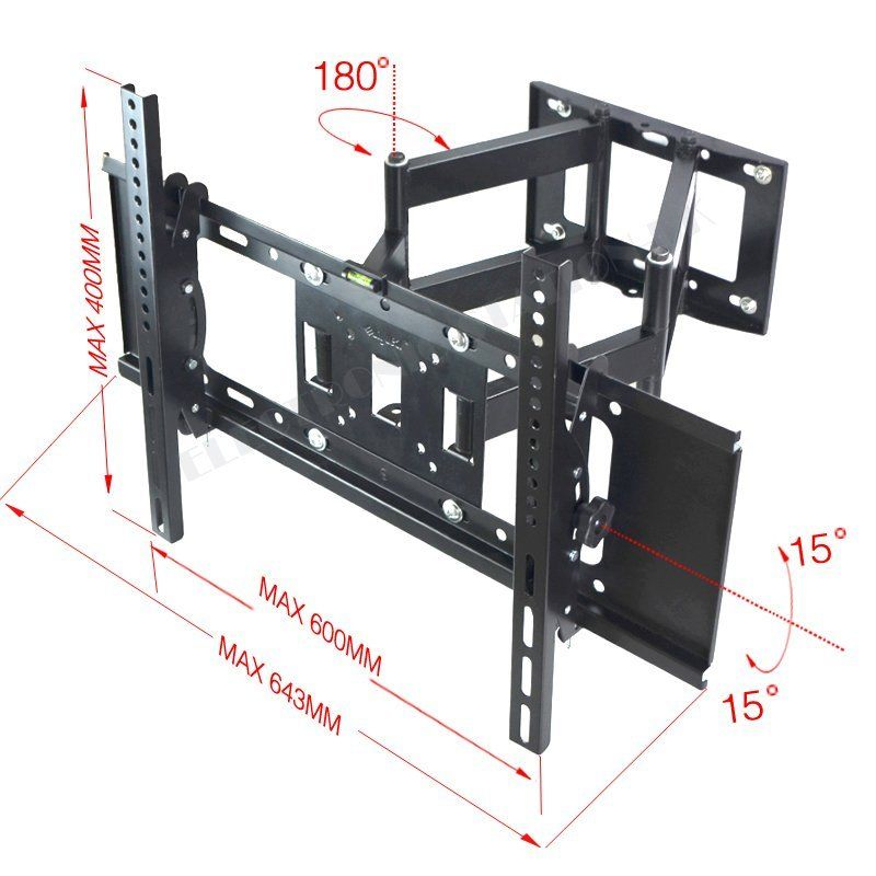 Full Swivel Tilt LED LCD TVS Wall Mount Bracket for Samsung LG TCL Sony TV 26-70 32 35 3 ...
