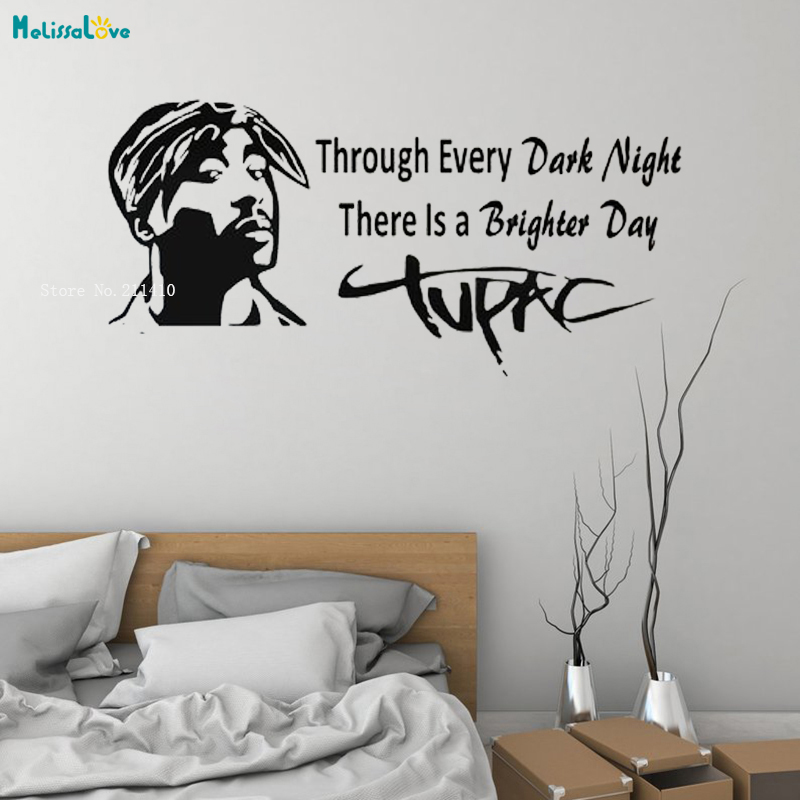 Hip Hop Music Star Wall Sticker 3D Poster New Design Home Decor Famous Quote Rap Black History Removable Vinyl Murals YT1485