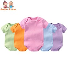 Anna & Joyce 5pcs/lot Jumpsuit Pure Cotton Short Sleeved