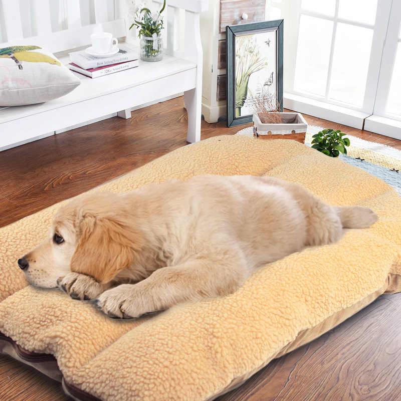 Pet Cloth Mat Puppy Blanket Sleeping Mat Warm Nest Waterproof Cushion L Coffee