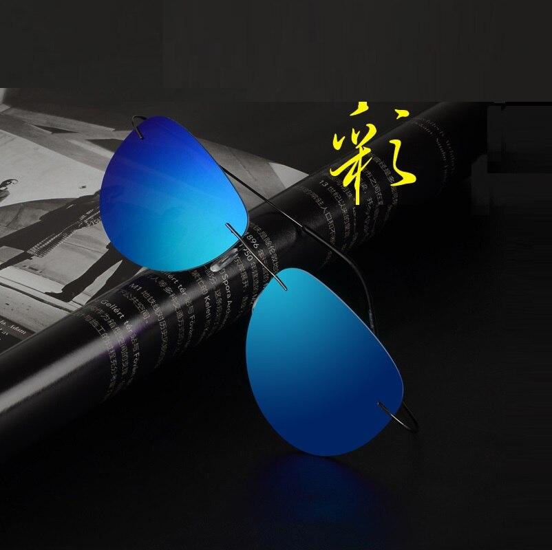 58 20 144 The new Super light memory material polarized UV400 resin rimless sunglasses and fashion sunglasses men women 201606