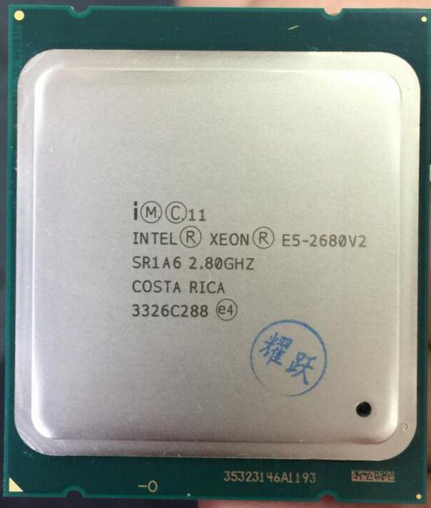 Intel Xeon E5 2680 V2 sr1a6 Процессор процессор 10 core 2.80 ГГц 25 м 115 Вт e5-2680 V2 2.8 г