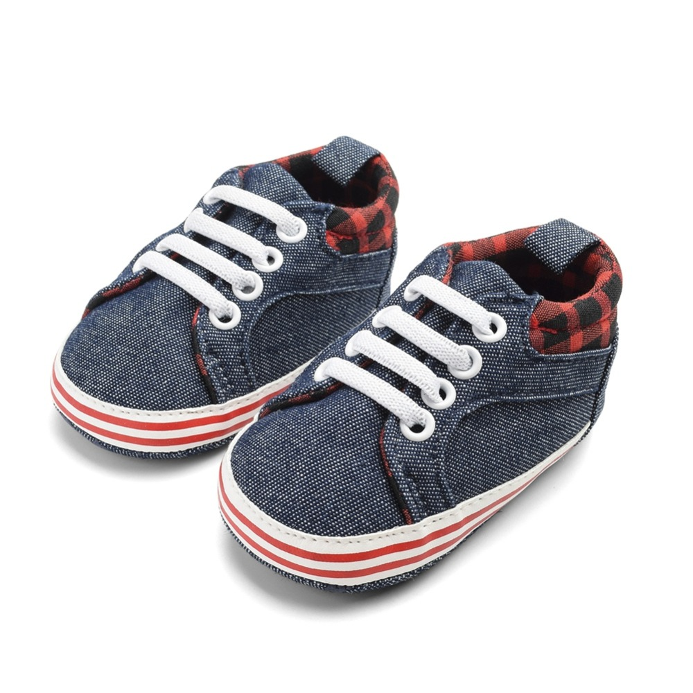 Shoes Print Baby-Boys Sneakers Soft-Soled Anti-Slip Toddler Breathable Summer Stripe