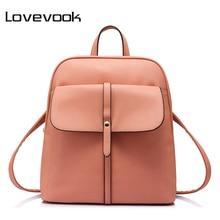 LOVEVOOK brand fashion women backpacks for teenage girls high quality shoulder bag female zipper school bags preppy style 2017