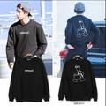 2017 New Hot bts kpop Jacket Cotton Donald Duck Cartoon Printing Trend Unisex Black and white Tee Capless Sweatshirts