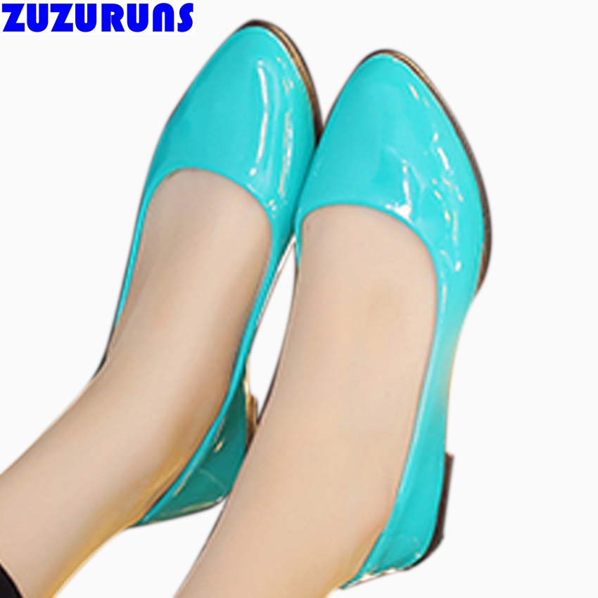 new candy color women flats low top slip on shoes for women pu leather ultra light flat shoes ladies girls soft dress shoes 6b4
