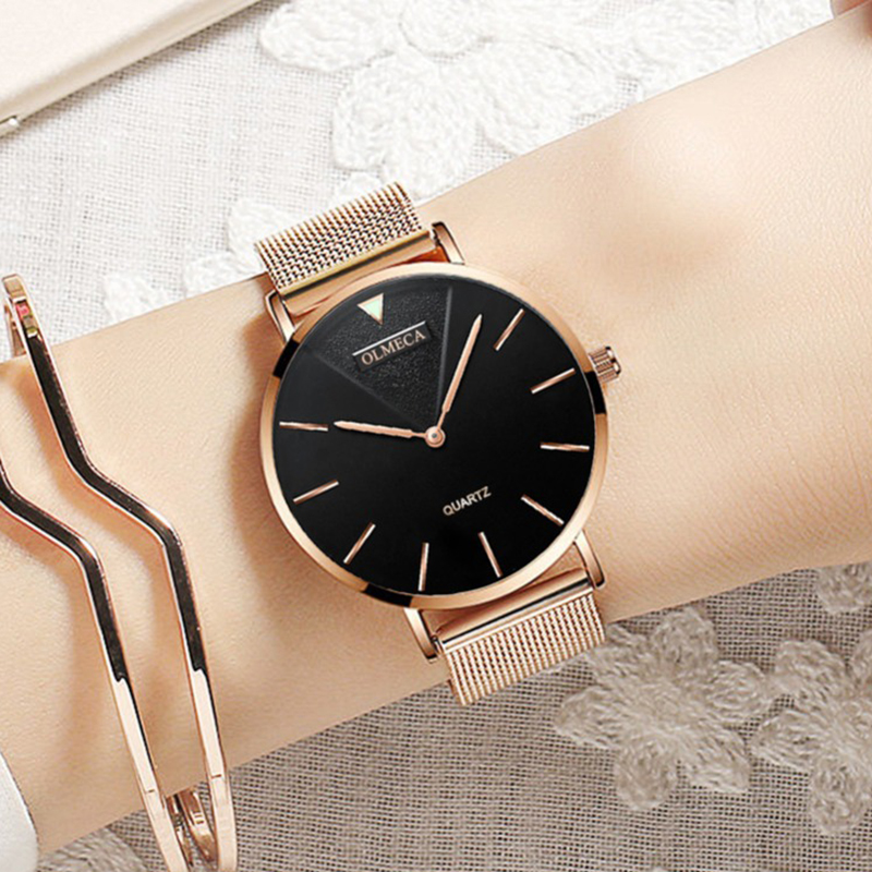 Fashion Ultra Thin Quartz Ladies Wrist Watches Luxury Brand Rose Gold Women Minimalist Watches Steel Mesh Waterproof Girls ClockFashion Ultra Thin Quartz Ladies Wrist Watches Luxury Brand Rose Gold Women Minimalist Watches Steel Mesh Waterproof Girls Clock